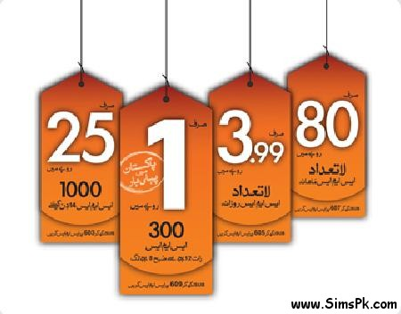 Ufone Unlimited Sms Offer
