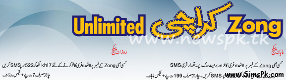 Zong Unlimited Calls for Karachites