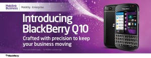 BlackBerry Q10 by Mobilink