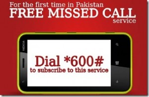 Mobilink Offers Missed Call and SMS Service