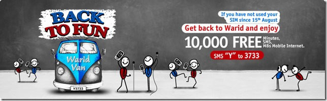 Warid Introduces Back to Fun Offer
