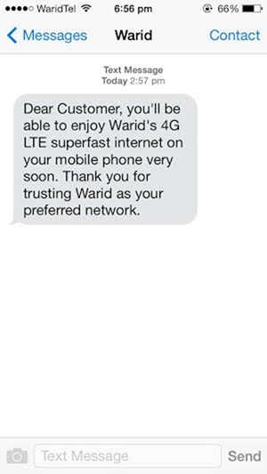 Warid 4G Services