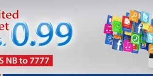Warid brings unlimited mobile internet for only Rs. 0.99
