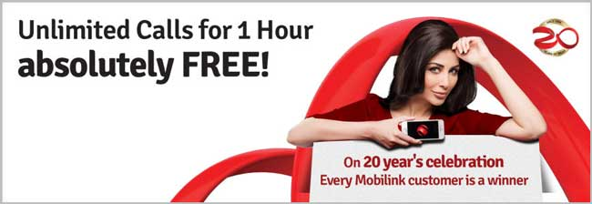 Mobilink Gives One Hour Free On-Net Calls