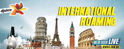 Djuice International Roaming Charges