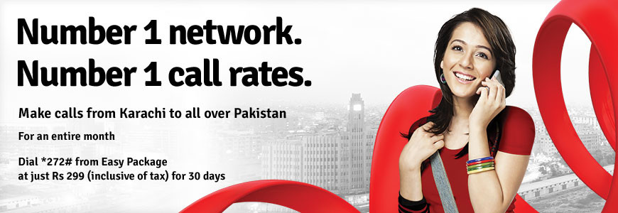 Mobilink Karachi Monthly Offer