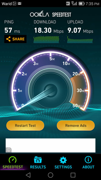 Speed_Tests_of_Warid_4G_LTE 2