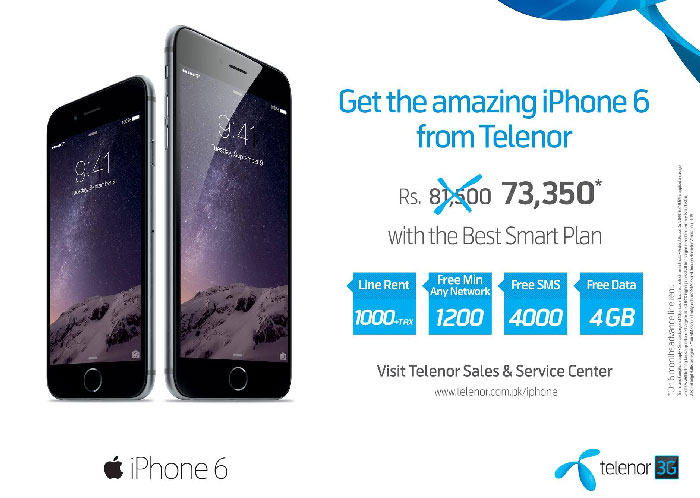 Telenor Offers iPhone 6 for Postpaid Users