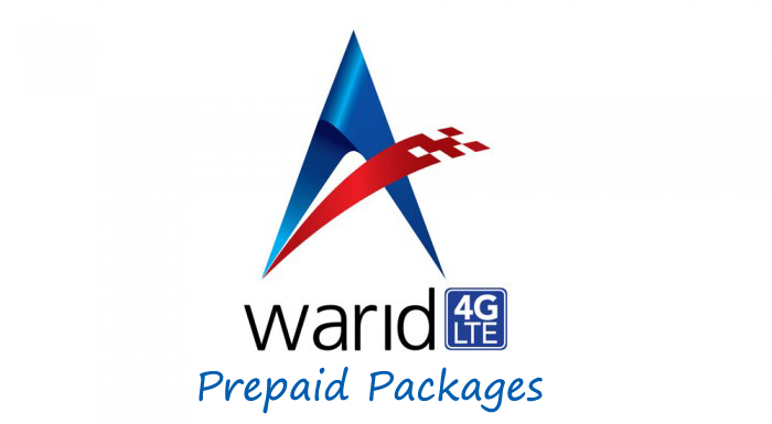 Warid 4G LTE Packages For Prepaid Customers