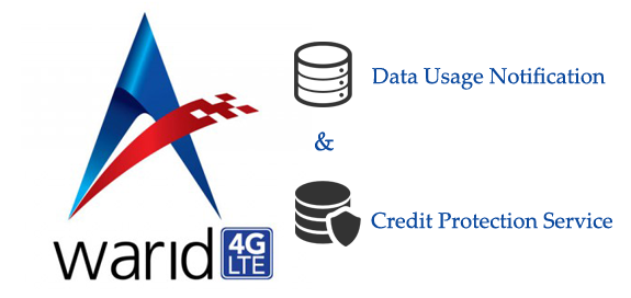 Warid Data Usage Notification and Credit Protection Service
