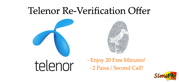 Telenor Re-Verification Offer on Recharge