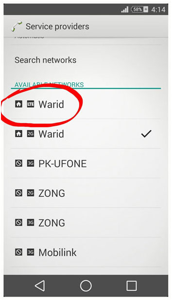 Warid 4G LTE Sialkot Screenshot