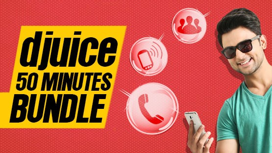 Djuice 50 Minutes Bundle Offer - Get FREE On-Net Minutes