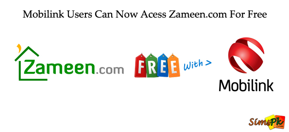 Zameen.com Free with Mobilink