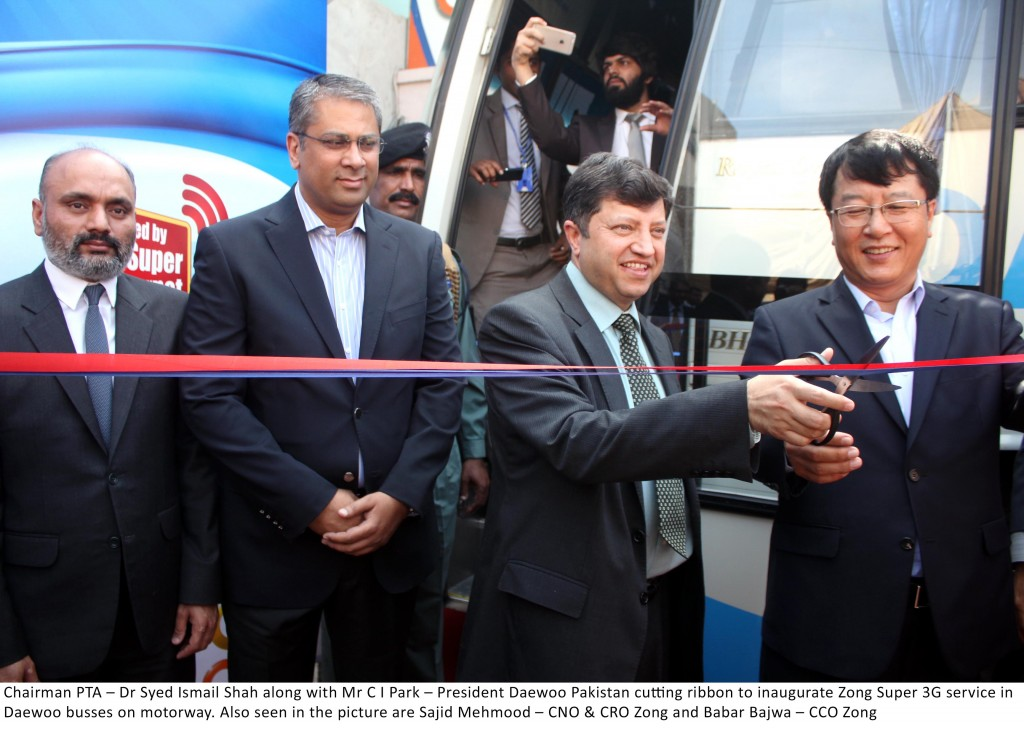 Zong Collaborates Daewoo to Offer Free 3G Internet on Motorway