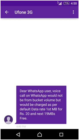 Ufone to Charge WhatsApp Calls