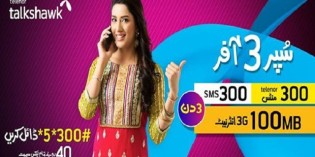 Telenor Talkshawk Super 3 Offer – Enjoy Minutes, SMS & MB's Hybrid Bundle