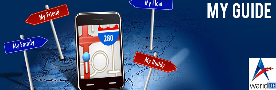 Warid My Guide - Get Location Details Of Anyone or Anything