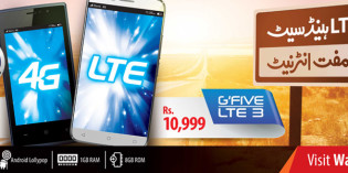 Warid Brings GFive LTE 2 & LTE 3 with Free Internet Offer