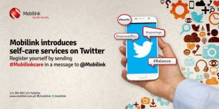 Mobilink Collaborates Twitter to Introduce Self Care Services through Tweets