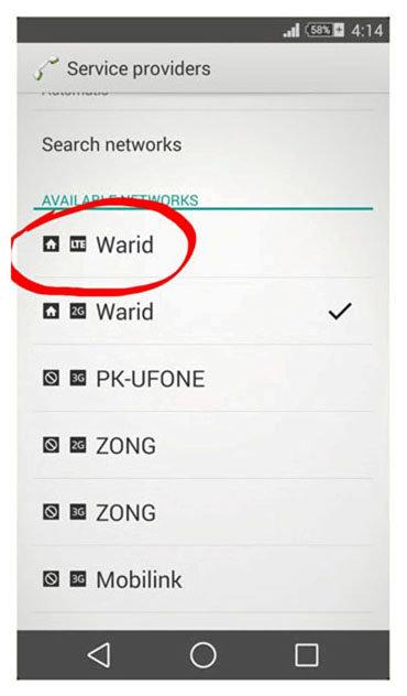 How to Check Warid LTE Network