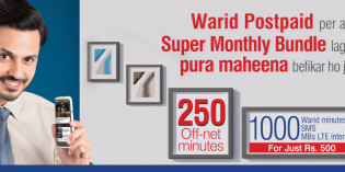 Warid Introduces Super & Unlimited Monthly Bundles for Postpaid Customers