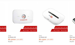 Zong Offers 22,000 mAh Power Bank with All Its 3G/4G Devices