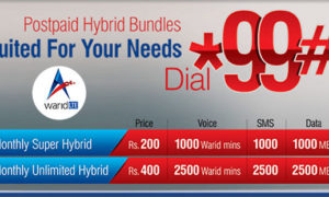 Warid Introduces Super & Unlimited Hybrid Postpaid Bundles