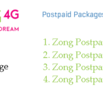 Zong NEW Postpaid Packages with Unlimited On-Net Calling Facility