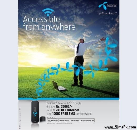 Telenor USB Dongles offer
