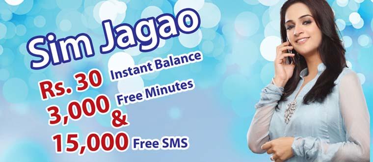 Warid Sim Jagao Offer