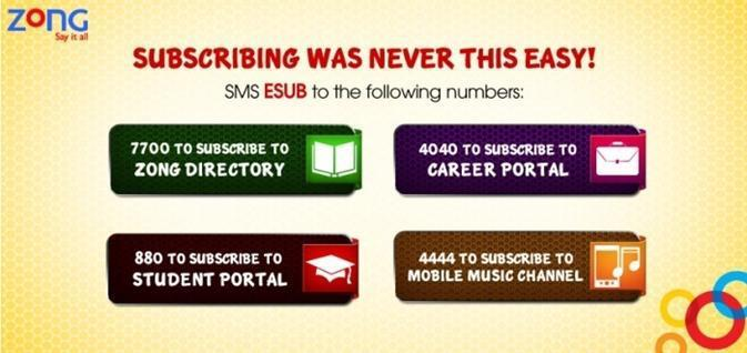 Zong subscribe with ease