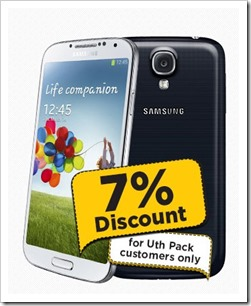 Uth Pack Discount on Samsung Galaxy S4