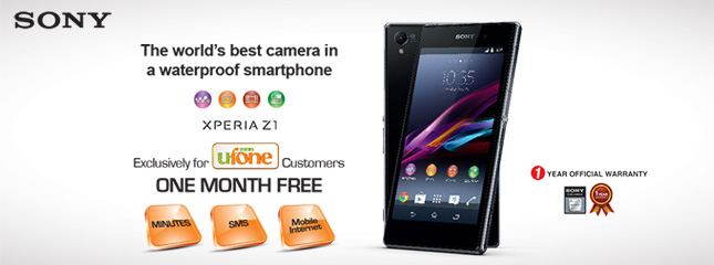 Ufone Offers Sony Xperia Z1 and Z Ultra with Free Bundles