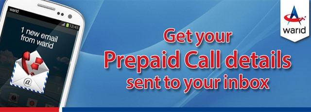 Get Call and SMS Details for Warid Numbers