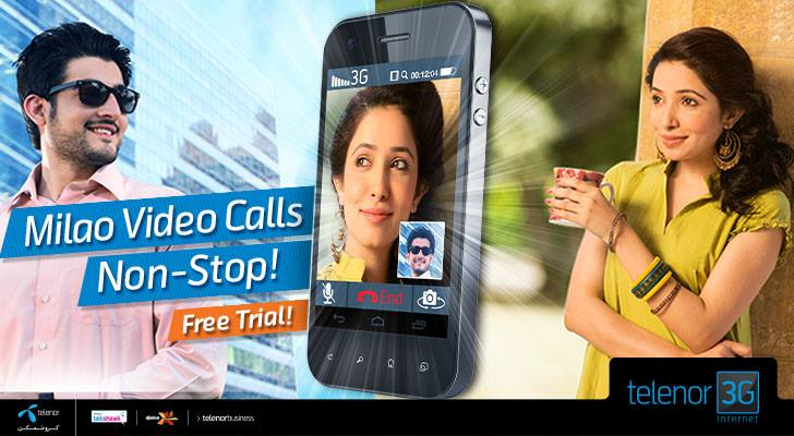 With Telenor 3G Internet make seamless video calls on-the-go