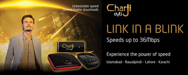 PTCL Launches 36Mbps 'CharJi' (4G) EVO Service
