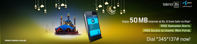 Telenor Brings Daily Ramzan Internet Bundle for Only Rs. 8