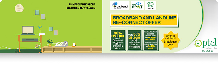 PTCL Broadband and Landline Reconnect Offer