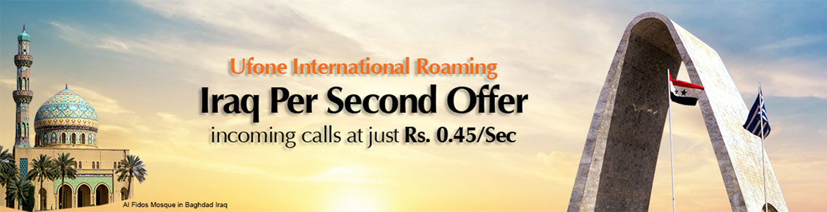 Ufone's Iraq Per Second Offer