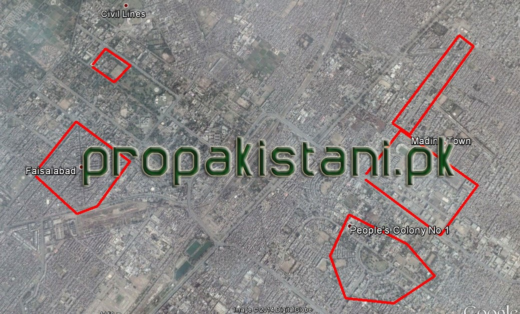 Zong 4G Coverage Map In Faisalabad