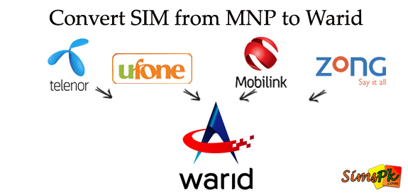 How To Convert Your SIM To Warid? (MNP To Warid)