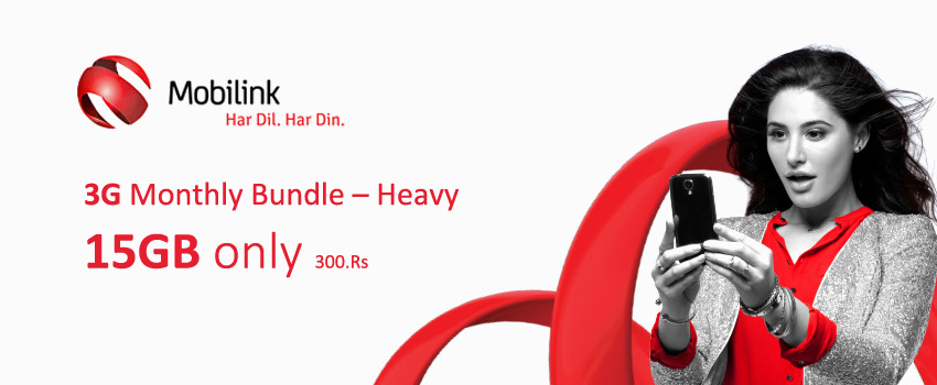 Mobilink 30GB 3G Bundle Is Extended For Additional 1 Month
