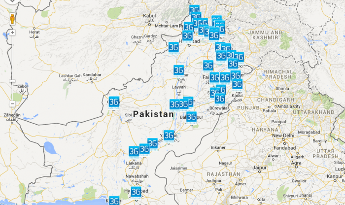 Telenor's 3G Coverage Map
