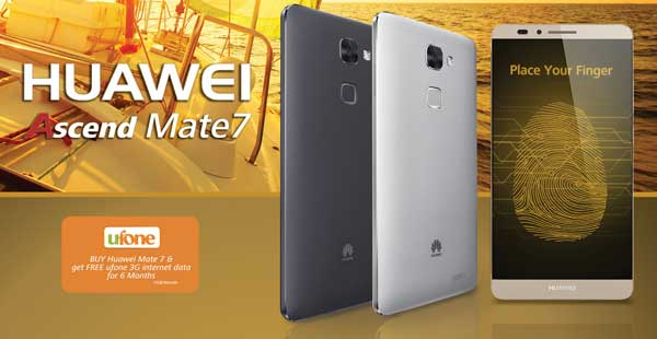 Ufone Huawei Ascend Mate 7