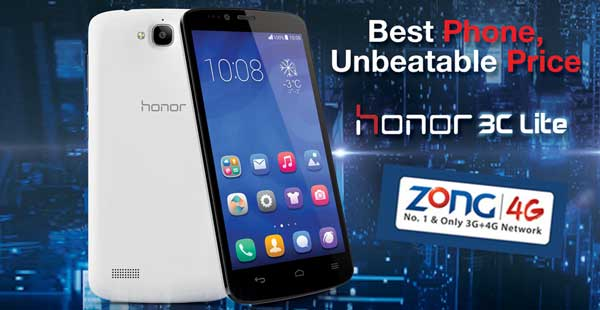 Zong Presents Huawei Honor 3C Lite