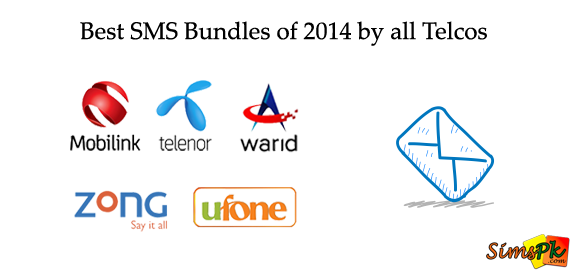 Best SMS Bundles of 2014 by All Pakistani Telcos