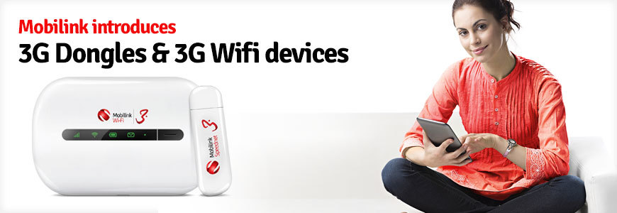 Mobilink WiFi Devices with 25GB Monthly Internet