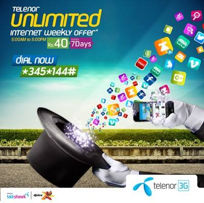 Telenor Weekly Day-Time Internet Bundle