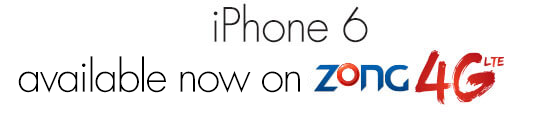 Zong Brings iPhone 6 & 6 Plus with 36GB Free 4G Bundle